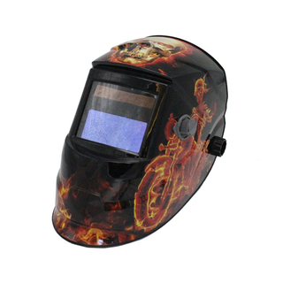 MX-J Auto Darkening Welding Helmet with flame and skull